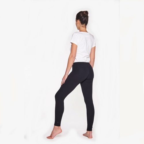 Yoga Leggings Plain von Yoiqi - Soft Black Bio Back