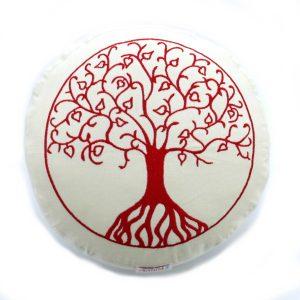 Yogakissen Lebensbaum natur Kapok flach