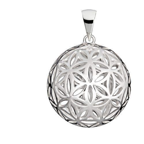 Anhänger Kugel Blume des Lebens Silber 925er Sterlingsilber Yoga Stilvoll