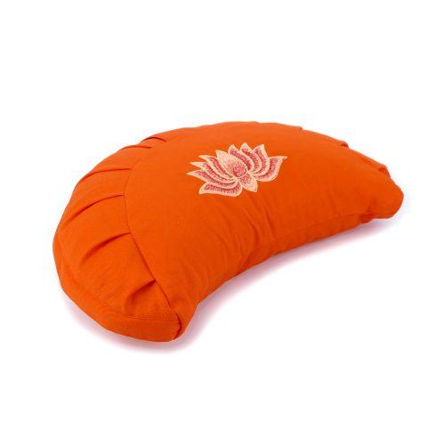Halbmondkissen - Zafu von Bagahi Lotusblume - Orange