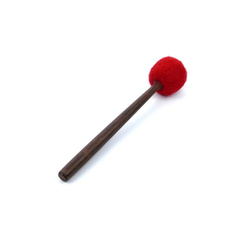 Klangschalen Klöppel Holz-Filz XS rot