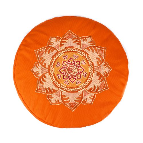 Meditationskissen - OM Mandala von Bagahi Orange