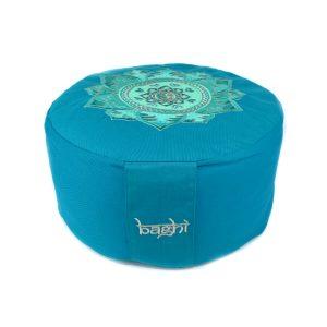 Meditationskissen - OM Mandala von Bagahi Petrol