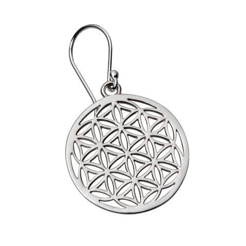 Ohrringe Blume des Lebens Silber 925er Sterlingsilber