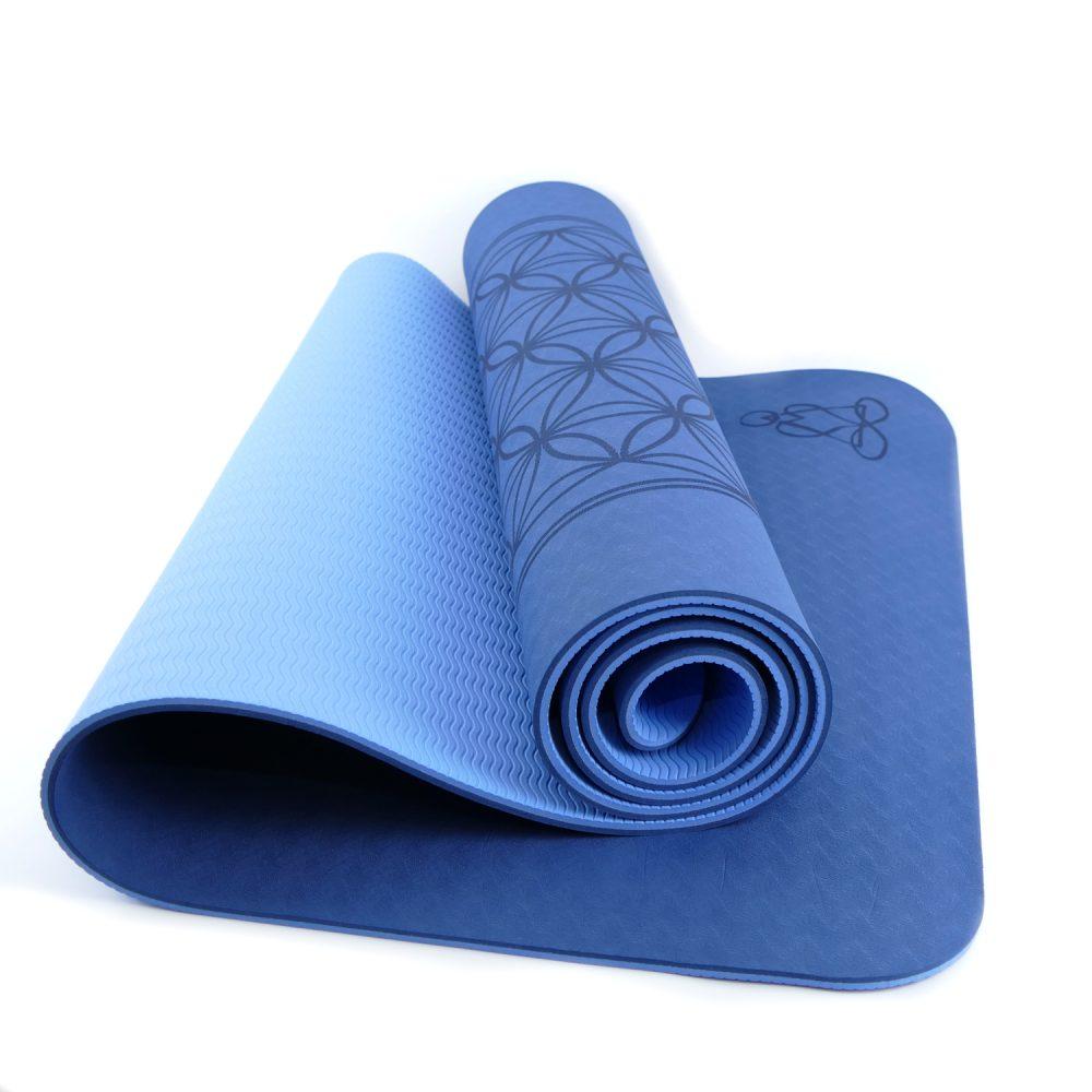 1x Yogamatte TPE ecofriendly mit Blume des Lebens Yoga-Matte 182 x 61 cm