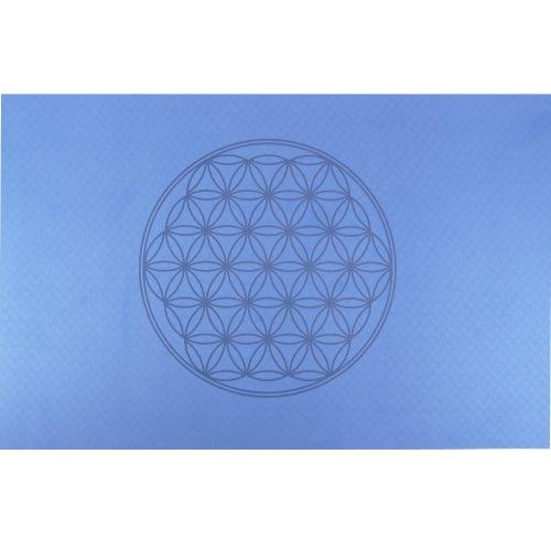 Yogamatte Berk - Blume des Lebens - Blau