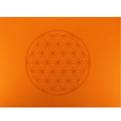 Yogamatte Berk - Blume des Lebens - Orange