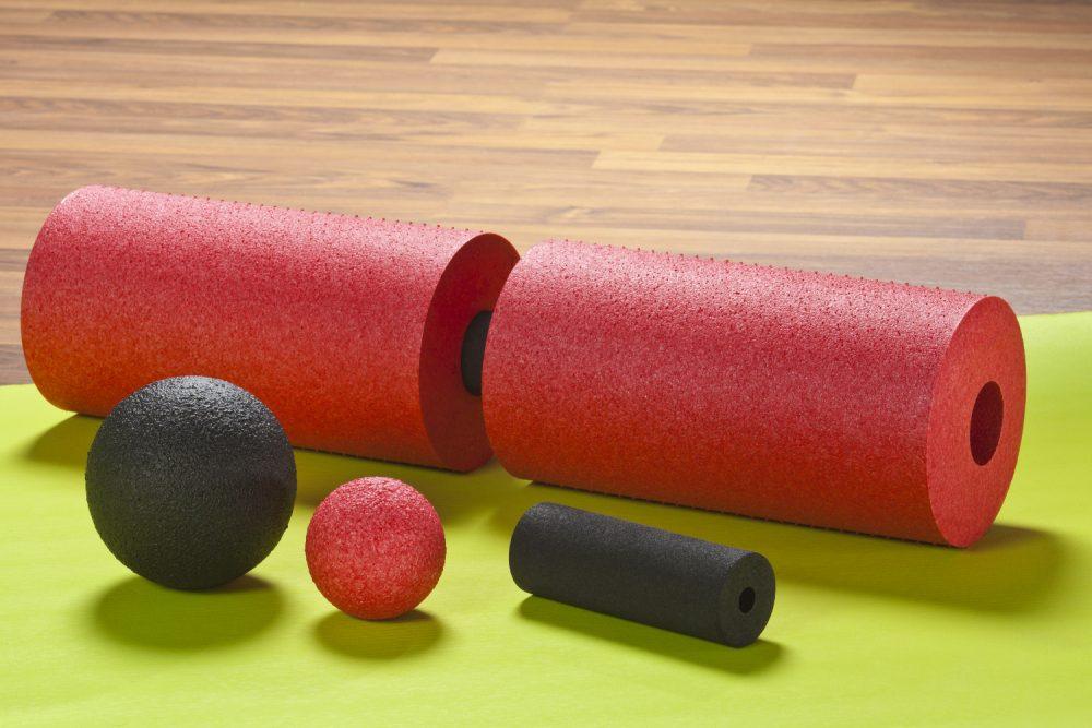 Faszien Yoga - Hilfsmittel-Faszienrolle-Massageball