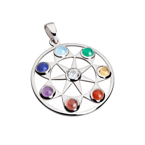Silber Anhänger - Sieben Chakra Anhänger - Inner Light