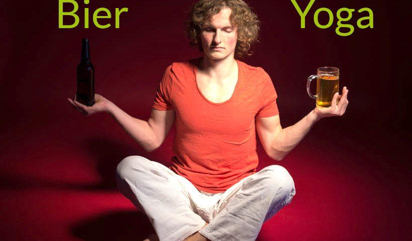 Bier Yoga – der spaßige Yogastil mit zwei Flaschen Bier