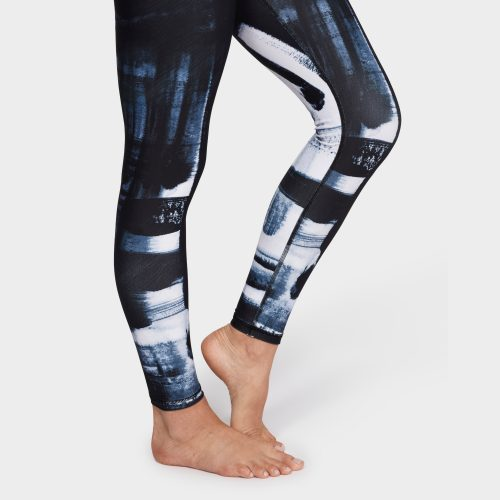 Brush Paint Legging von Manduka - Blue Multi