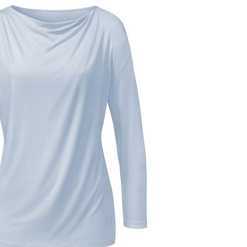 Langarm Waterfall Shirt von Curare light blue