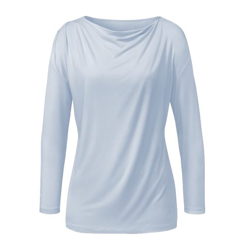 Langarm Waterfall Shirt von Curare light blue