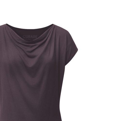 Wasserfall Shirt von Curare aubergine