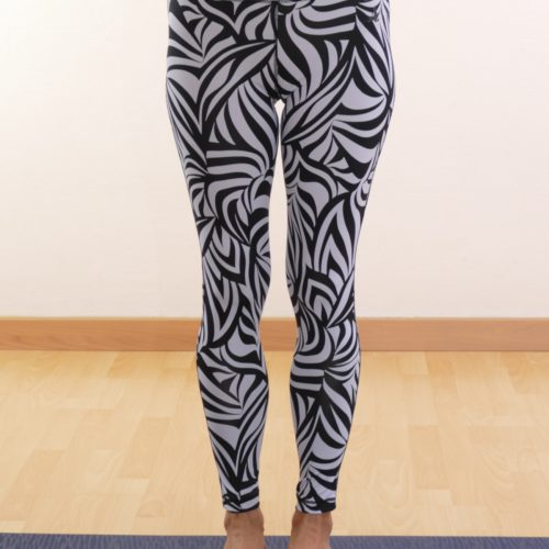 leggings high waist von curare grafik blue