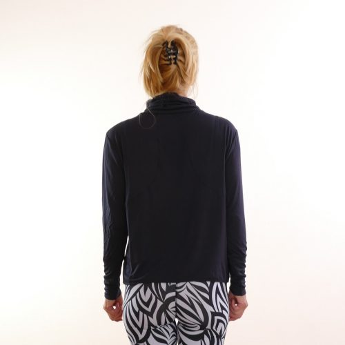 shirt turtle neck von curare midnight-blue