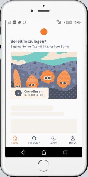 Headspace geführte Meditations-App