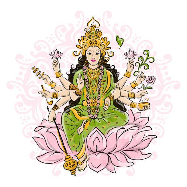 Lakshmi Gott des Hinduismus