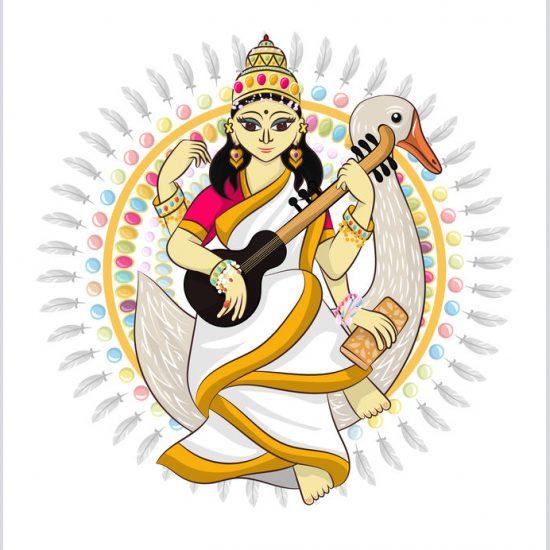 Saraswati Gott des Hinduismus