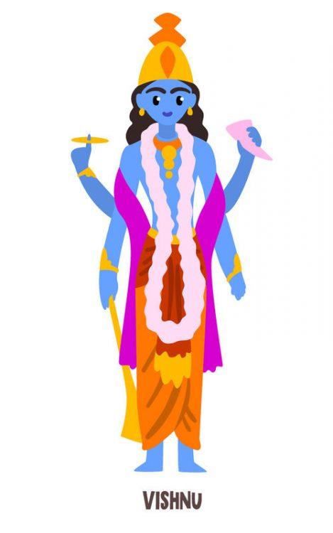 Vishnu Gott des Hinduismus