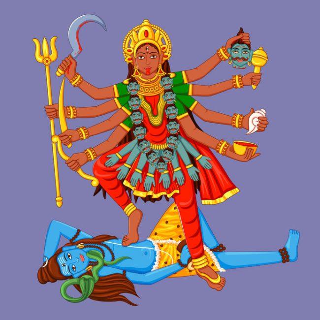 Aussehen und Attribute von Kali