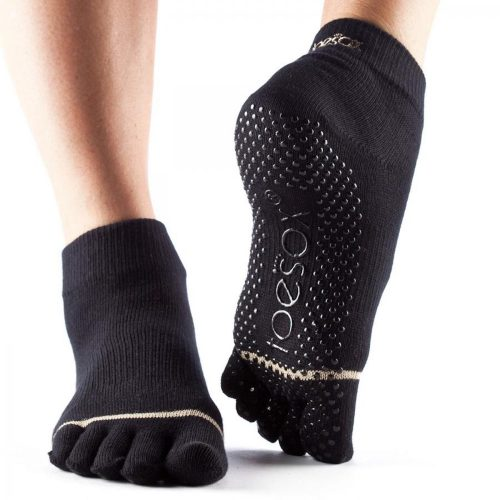 Yogasocken - ToeSox - Full Toe Ankle - Black