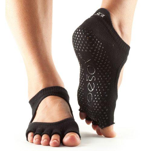 Yogasocken - ToeSox - Half Toe Bellarina - Black