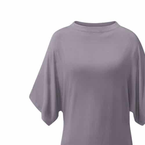 Batwing Shirt von Curare Yogawear Farbe Grau