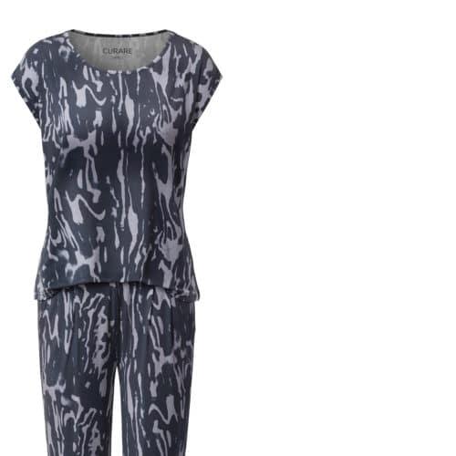 Onepriece Kombination von Curare Yogawear Farbe Schwarz Weiß