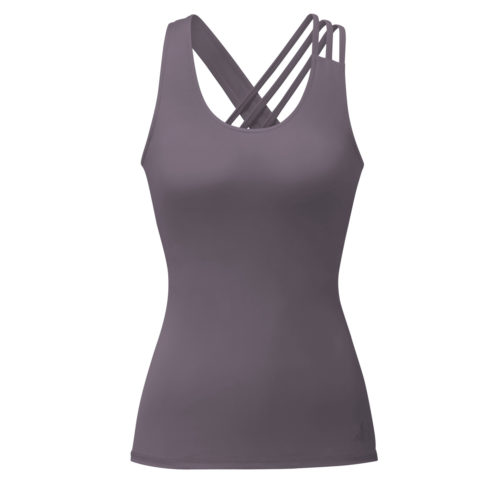 Top Asymmetric Straps von Curare Yogawear Farbe Violett