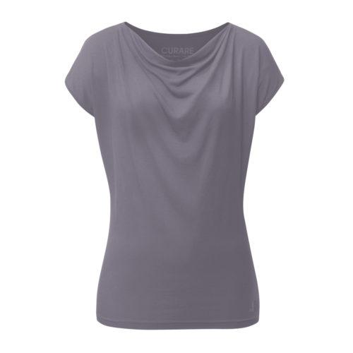 Top Asymmetric Straps von Curare Yogawear Farbe Grau