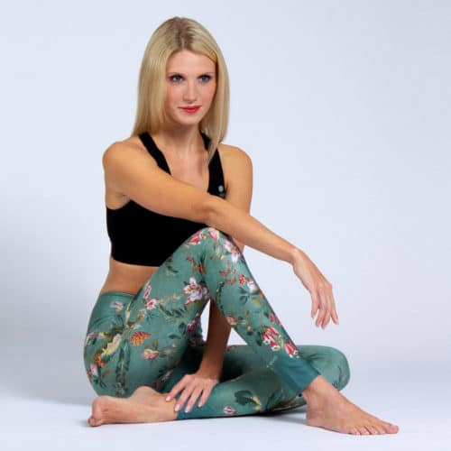 Yoga Leggings Secret Garden von Magadi