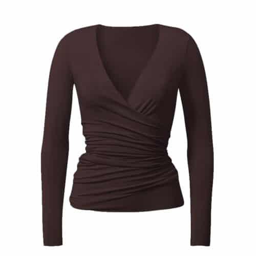 Wrap Jacket von Curare Yogawear Bordeaux