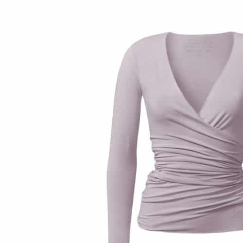 Wrap Jacket von Curare Yogawear puder-rosa