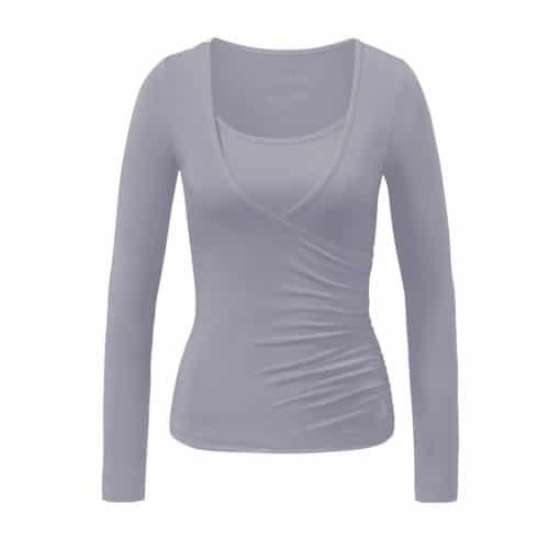 Wrapshirt von Curare Yogawear new pearl